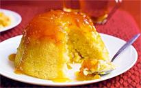 Marmalade sponge pudding.
